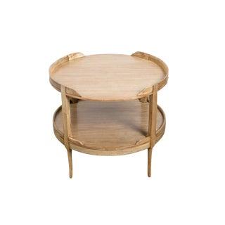 2-Tier Mahogany Table