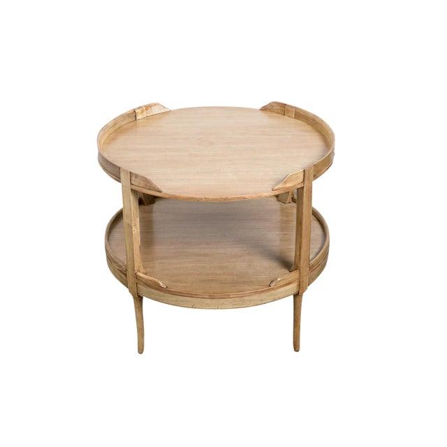 2-Tier Mahogany Table - Image 1 of 3