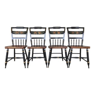 L. Hitchcock Maple Harvest Farmhouse Chairs - Set of 4