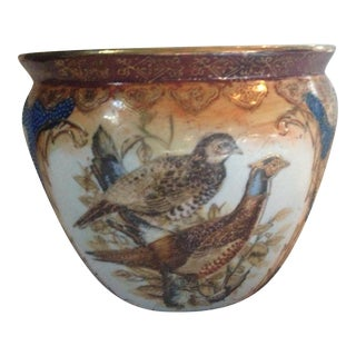 Asian Birds Ceramic Cachepot