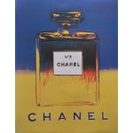 Image of Blue & Yellow Andy Warhol 1997 Chanel No. 5 Poster