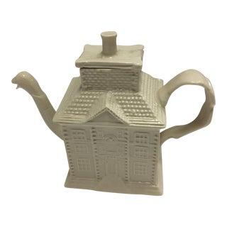 Ceramic House Teapot & Duck Spout