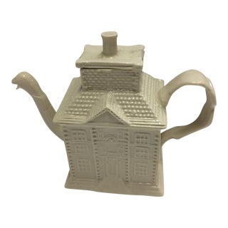 Ceramic House Teapot & Duck Spout