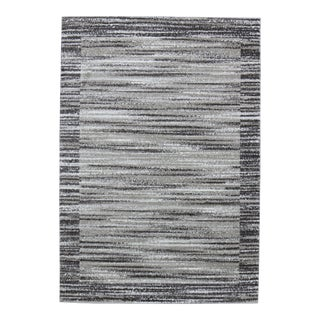 Faded Abstract Contemporary Striped Brown Rug - 5'3''x 7'7''