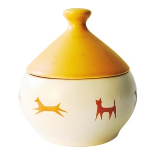 Mid-Century Ceramic Pet Treat Jar