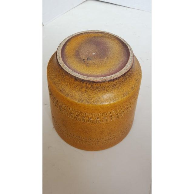 Image of German Modern Etched Mustard Glazed Pot