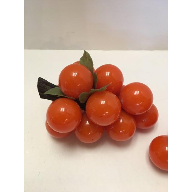 Mid-Century Orange Lucite Grapes - A Pair - Image 3 of 11