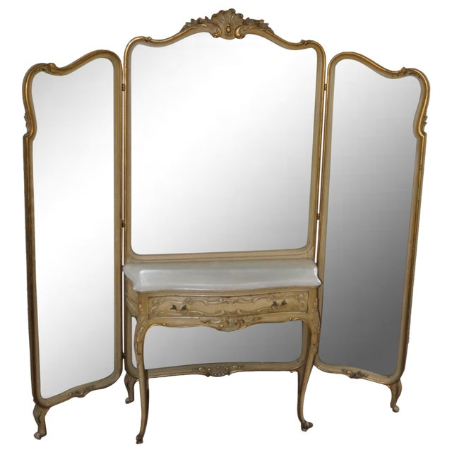 Vintage 1920s French Louis XV Style Vanity - Image 1 of 11