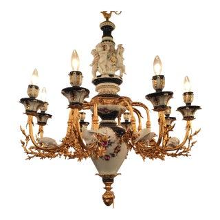 Dresden / Meissen Style Porcelain Chandelier