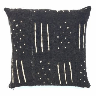 African Mudcloth Black & White Pillow Cover