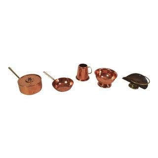 Mid-Century Modern Copper Miniatures - Set of 6