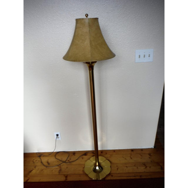 "Brass Floor Lamp Mid Century: Stiffel Mid-Century Modern ""Lily And Lotus"" Brass Floor"