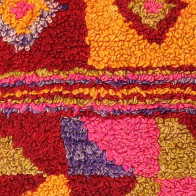 "Colorful Vintage Turkish Tulu Pillow | 20"" - Image 2 of 2"