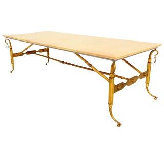 Arturo Pani Parchment & Brass Coffee Table