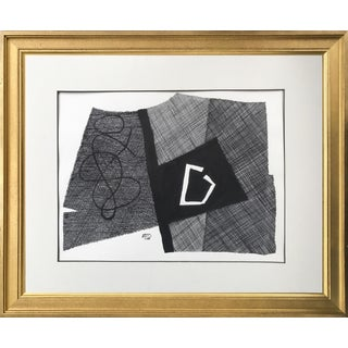 Vintage Roger Stokes Pen & Ink Abstract Drawing