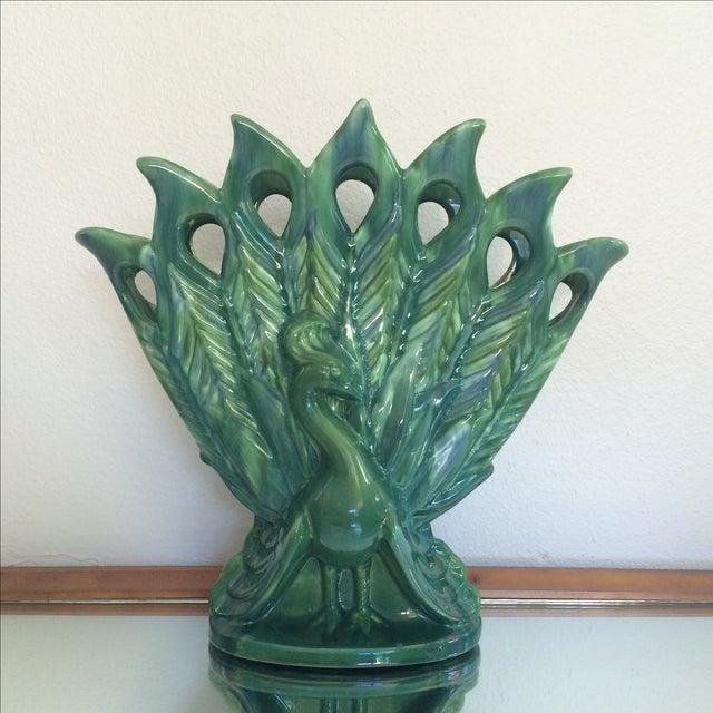 Royal Haeger Peacock Vase - Image 2 of 11