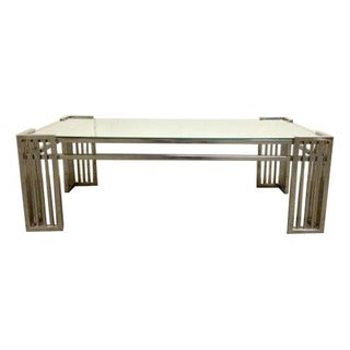 Milo Baughman DIA Chrome & Mirror Cocktail Table