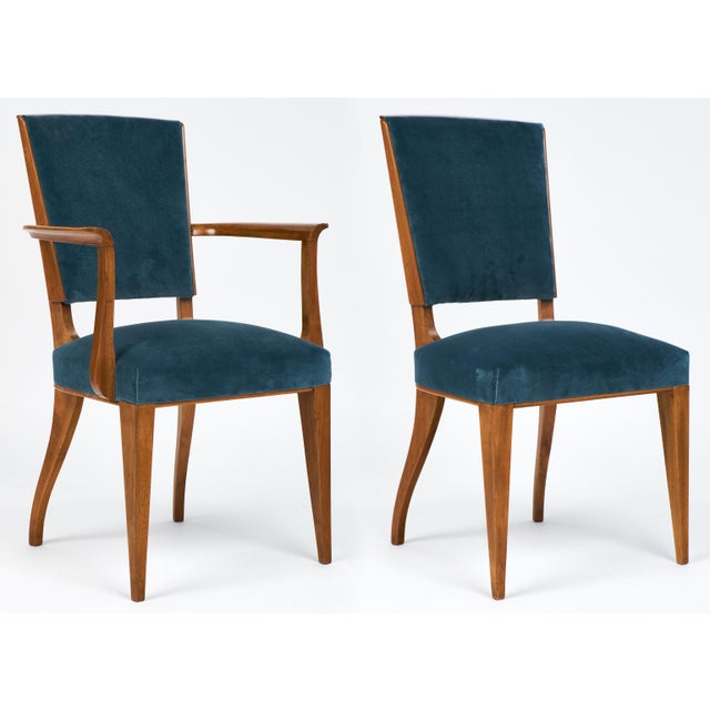 French Art Deco Cherrywood Dining Chairs- Set of 6 - Image 5 of 10