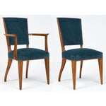 Image of French Art Deco Cherrywood Dining Chairs- Set of 6