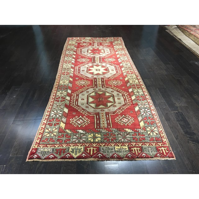 "Vintage Turkish Medallion Runner - 5'x11'6"" - Image 2 of 9"