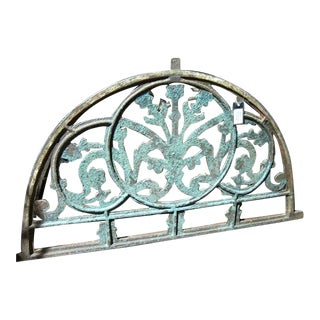 Original Iron Architectural Window Transom