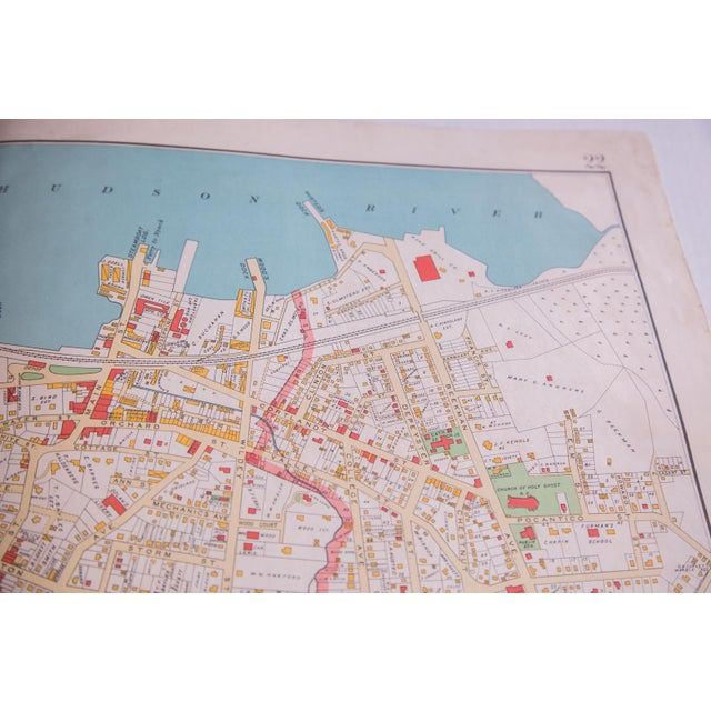 Antique Tarrytown New York Map - Image 2 of 5