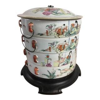 Set of 4 Stacking Chinese Ceramic Bowls