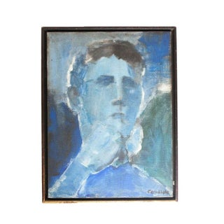 Abstract Portrait in Blue Hues