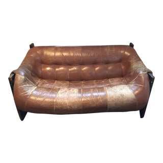 Percival Lafer Leather Loveseat