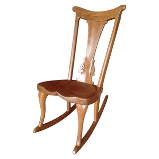 Ancient Kauri Wood Rocking Chair