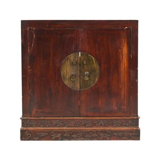 Imposing Chinese Carved Wedding Cabinet