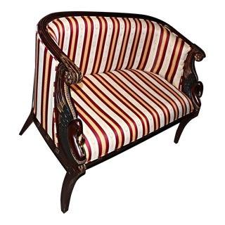 French Empire Style Mahogany Settee
