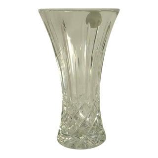 Vintage Block Lead Crystal Vase