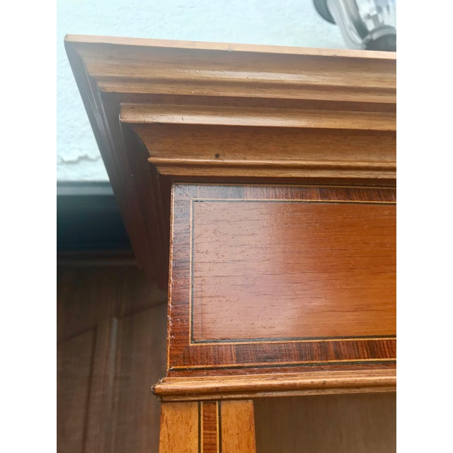 English Yew Wood & Satinwood Inlay Bookcase - Image 6 of 9