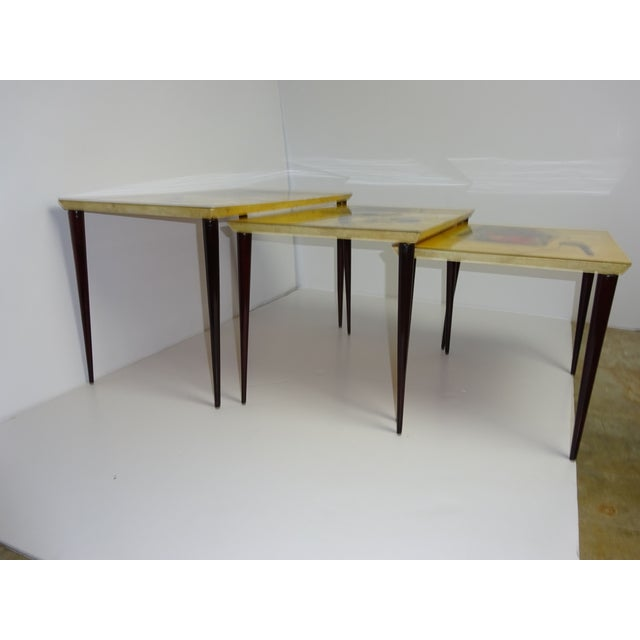 Aldo Tura Parchment Gigogne Tables - Set of 3 - Image 6 of 8