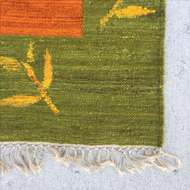 Green, Orange & Blue Kilim Rug - 5′10″ × 6′
