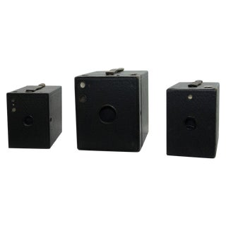 Antique Box Camera Collection - Set of 3