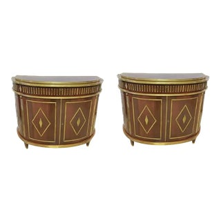 Demi-Lune Commodes - A Pair