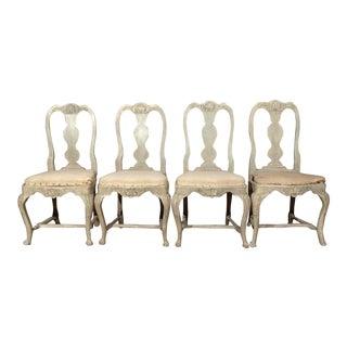 Swedish Rococo Dining Chairs