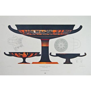 Genick, Color-Printed Lithograph of Greek Vases by Ernst Wasmuth