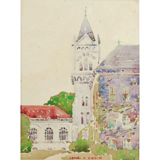 Art Nouveau Architectural Watercolor