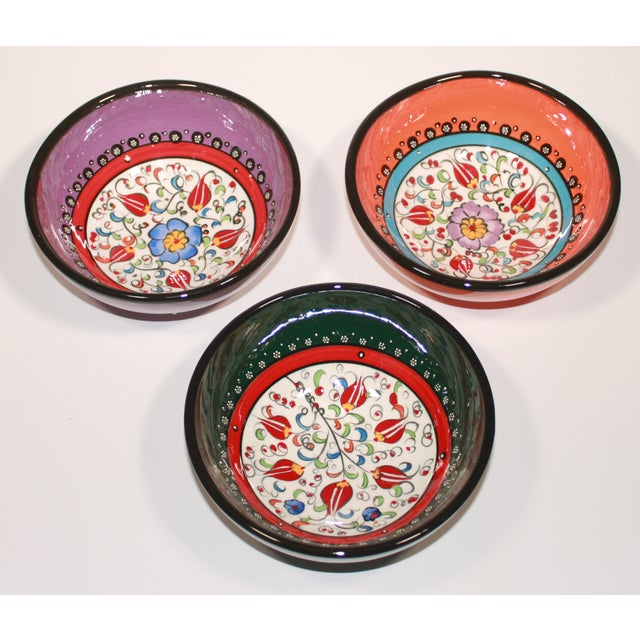 Image of Turkish Hand Made Bowls - Set of 3
