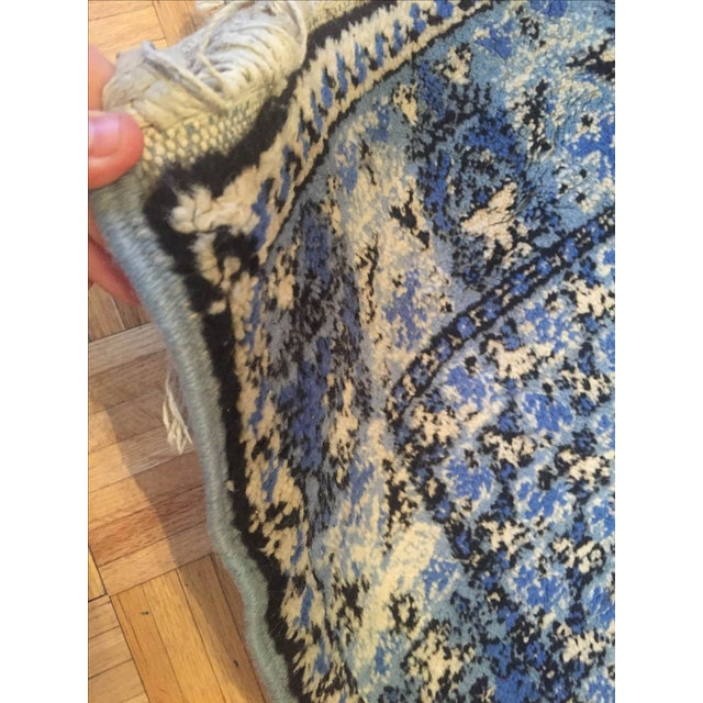 Large Blue Moroccan Rug - 4' x 6' - Image 7 of 9
