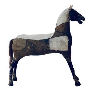 Antique Wood & Linen Horse