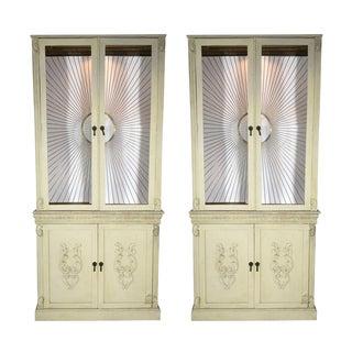 Bergdorf Goodman Sunburst Cabinets - Pair