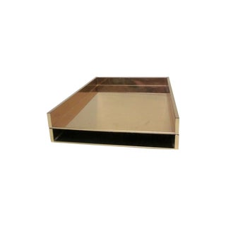Hollywood Regency Glam Letter Tray Inbox Boxes