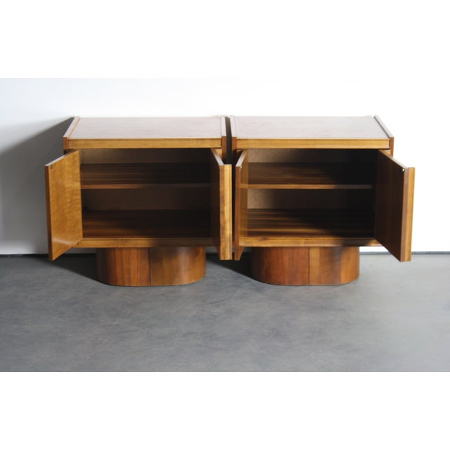 Mid-Century Book-Match Walnut End Tables - A Pair - Image 8 of 10