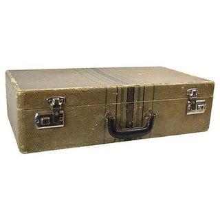 Vintage Tweed Travel Suitcase