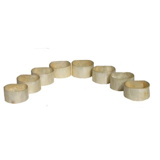 Capiz Shell Style Napkin Rings - Set of 8
