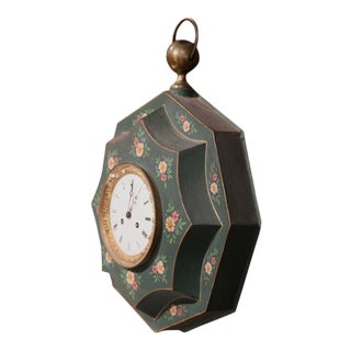 19th Century French Napoleon III Tole Wall Clock